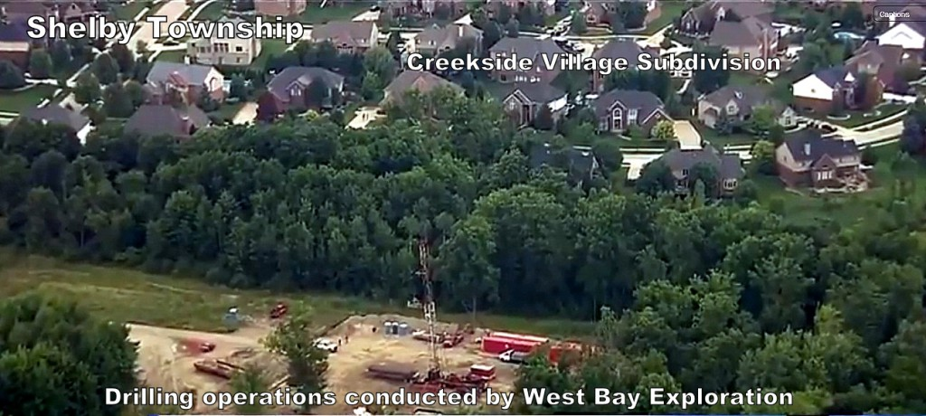 Oil Drilling in Shelby Township